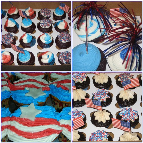 4th of July cupcake mosaic
