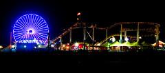 Santa Monica Ferris Wheel (Watchcaddy) Tags: santa beach wheel night canon long exposure mark ferris monica ii l 5d usm 70200 f28 ef