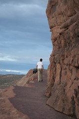 Hiking to Delicate Arch Photo