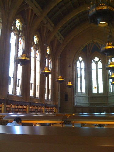 UW library reading room