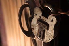 As safe as the Bank of England (archidave) Tags: light detail macro lock nt somerset security chain nationaltrust padlock squire stables madeinengland restraint shackle tyntesfield secured