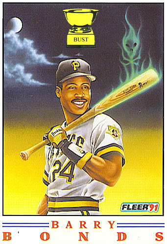 Barry Bonds 1991 Fleer Pro Visions Baseball Card Bust