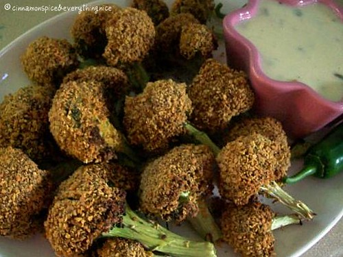 Crispy Broccoli Dippers & Jalepeno Cheese Sauce