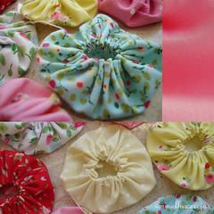 Fuxicos (vermelho cereja) Tags: red flower design artesanato fuxico cor