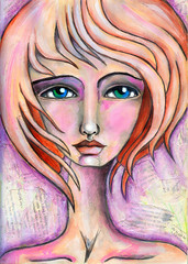 windy (willowing) Tags: portrait face arts portraiture mixedmediaart willowing