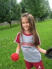 Baseball Kyra (JohnnieEberle) Tags: kyra aroundthehouse mybeautifuldaughter