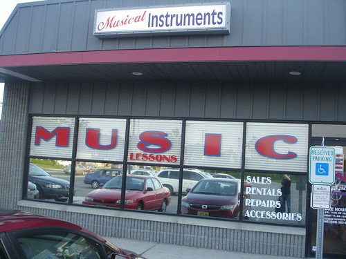 The outside of The Music Boutique