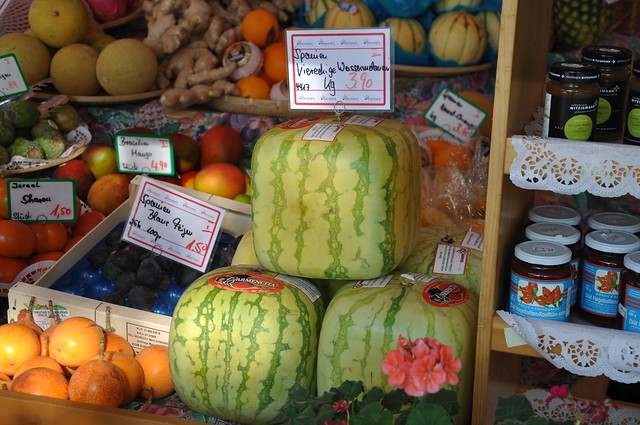 Square watermelon, Munich, Germany / Munique, Alemanha