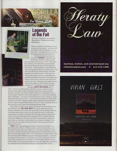 Venus Magazine / Fall Column