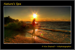 Nature's Spa (Irishphotographer) Tags: ireland sunset sun beach nature water swimming sunrise evening shoreline atmosphere stunning bathing paddling washing kinkade beautifulireland colorphotoaward imagesofireland kimshatwell ©irishphotographer breathtakingphotosofnature beautifulirelandcalander wwwdoublevisionimageswebscom