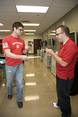 Zach turns his survey in for tickets (University of Advancing Technology) Tags: wendys uat