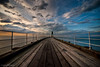 Towards The End Of Whitby Pier (_ justintheframe_) Tags: sunset coast harbour whitby boardwalk northyorkshire gettyimages justintheframe