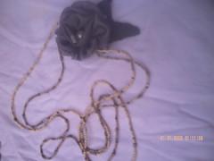 marcia 189 (Arte com maricota) Tags: azul feltro perla marron biju miçangas perola flres artzanato