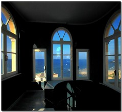 Oltre il blu (Nespyxel) Tags: travel blue windows light sea holiday hotel design mare shadows view blu room perspective style ombre vista suite livorno viaggio luce vacanza albergo prospettiva finestre simmetrie symmetries challengeyouwinner nespyxel stefanoscarselli grandhotelpalazzo thepowerofthelight pleasedontusethisimageonwebsites blogsorothermediawithoutmyexplicitpermissionallrightsreserved