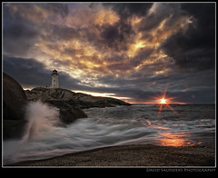 Oh F#@K!       Not again?!!!! (Dave the Haligonian) Tags: ocean sunset sea sun lighthouse canada storm clouds coast rocks waves novascotia atlantic shore maritime granite rays splash peggyscove beams copyrightallrightsreserved davidsaunders davethehaligonian ohfknotthisbtchagain nkn8797