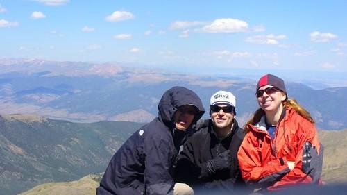 Mt. Harvard (14,420 ft) Summit Nice Group Shot