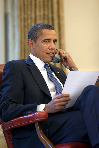 President Barack Obama Oval Office phone call to International Olympic Committee