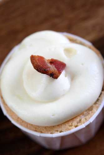 sweet corn, maple, bacon cupcake
