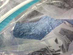 Pretty blue shampoo powder