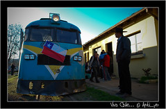 Viva Chile (cespedesenelmaule) Tags: chile tren trenes reflex nikon d fiestas septiembre campo 18 patrias 60 constitucin talca maule ramal dieciocho fiestaspatrias buscarril toconey