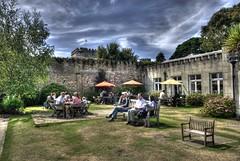 Brownsea Island- Outside the Tea Rooms.
