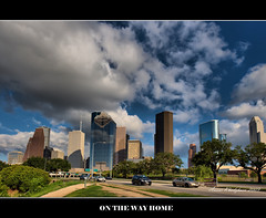 RUSHING HOME BEFORE THE RAIN (ANVAR - RUSSIANTEXAN ) Tags: glass skyline clouds nikon downtown cityscape texas steel houston allenparkway russiantexan d700 nikon14mm24mmf28gedifafs anvarkhodzhaev russiantexas svetan svetanphotography