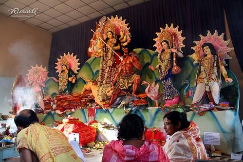 Maa Durga on Maha Oshtomi (by Russell John)