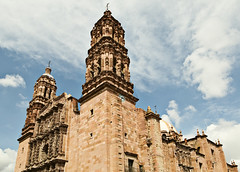 Zacatecas - Cathedral (El Gregein) Tags: travel sky stone clouds nikon cathedral zacatecas nikkor 2009 d300