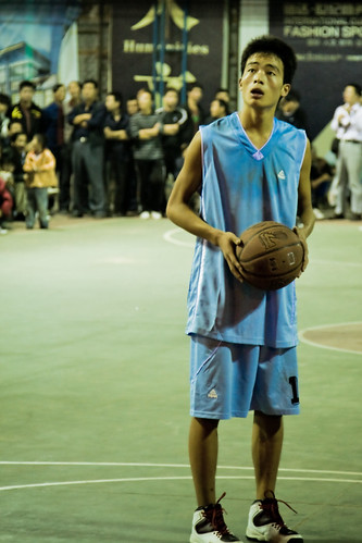 Night Outdoor Basketball Game