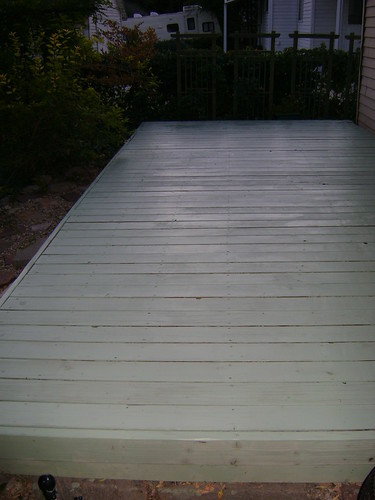 Fleshly stained Deck.