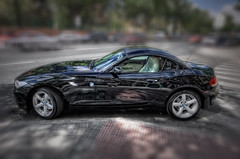 BMW Z4 sDrive 23i (side), HDR (marcp_dmoz) Tags: madrid auto espaa black car canon reflections eos drive spain negro coche bmw z4 sideview 2009 schwarz hdr spanien reflejos automobil spiegelungen pkw 50d seitenansicht vistalateral 23i noregistration sdrive sinmatrcula