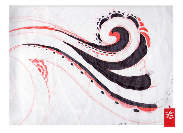 Tribal wave sketch. visit www.yoso.eu for tattoo news