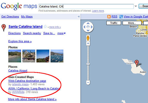 A Custom Map for Catalina Island in Google Maps