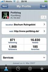 Tweetie 2-Screenshot: My Profile