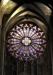 Stained Glass (cor_alee) Tags: france church window glass basilica stained carcassonne saintnazaire the saintcelse