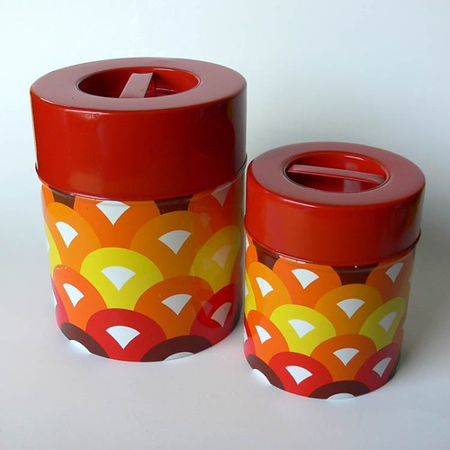 1970's Mod Canister Set