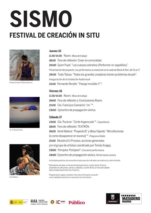 Programa del festival SISMO