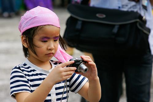 小女孩也是攝影師