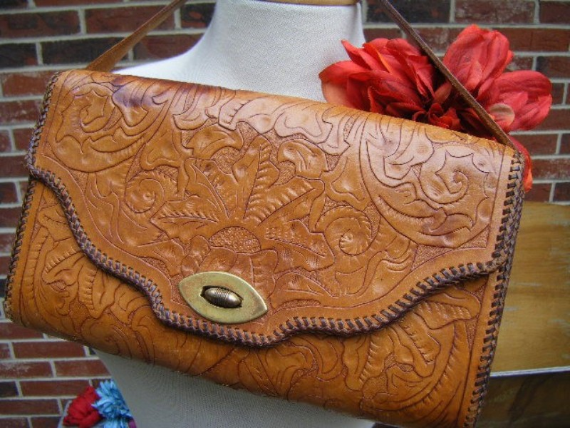 Hand tooled vintage purse