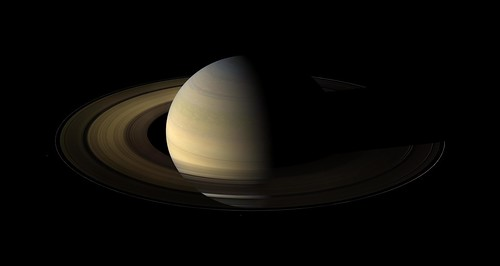 A Long Night Falls Over Saturn's Rings