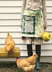 etsy, chickens & me... (dottie angel) Tags: me yellow vintage myself etsy andi makesmesmile backyardchickens dottieangel apronwrap allcoloursin