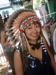 International girl (Roving I) Tags: girls asians indian sydney feathers smiles style australia fashions bowties headdresses