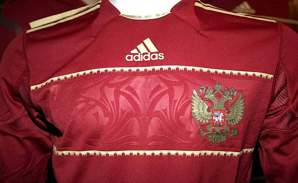 adidas Russia Jersey 2010/12 jersey detail