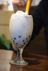 coconut boba tea