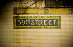 59th Street (shadey_shades) Tags: nyc newyorkcity ny newyork subway decay manhattan urbandecay tiles bigapple 59thstreet newamsterdam
