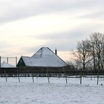 Beemster: Stolp farm build early 1900. The pyramids of the stolp farms fit the landscape remarkably well. Volgerweg  Westbeemster