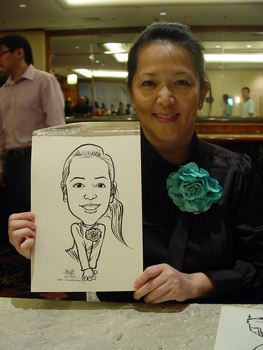 Caricature live sketching for wedding dinner 221109 - 3