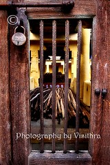 locked (visithra) Tags: travel india temple bars locked 2009 tamilnadu trichy krishlikesit