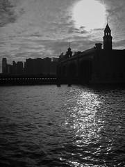 11-23-09 (Ryan Vaarsi) Tags: sky water clouds river newjersey jerseycity trainstation hudsonriver hoboken lackawanna