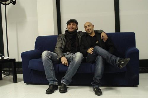 Giò di Tonno con Christian Mosca, Presidente della Fly Communications
